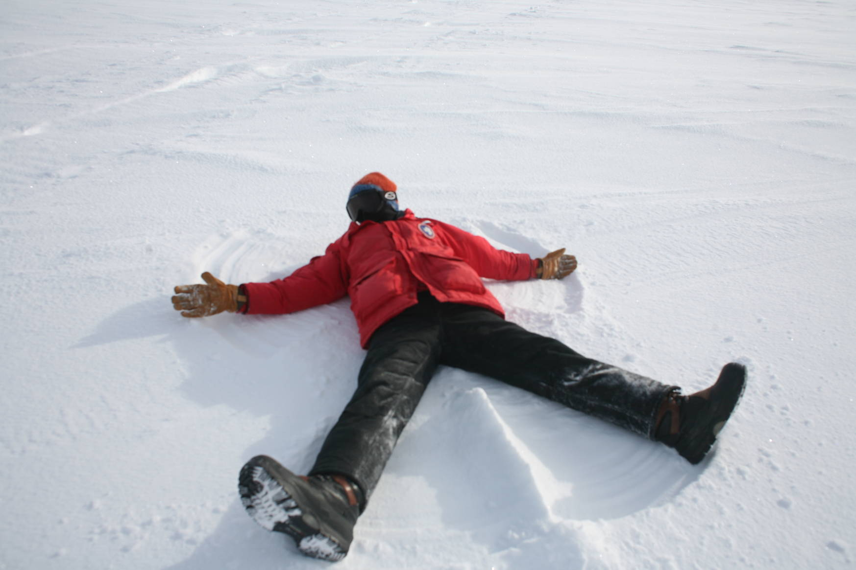 Snow angels at the south pole.