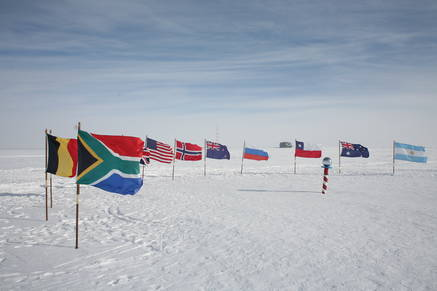 Fun with flags: the ceremonial south pole